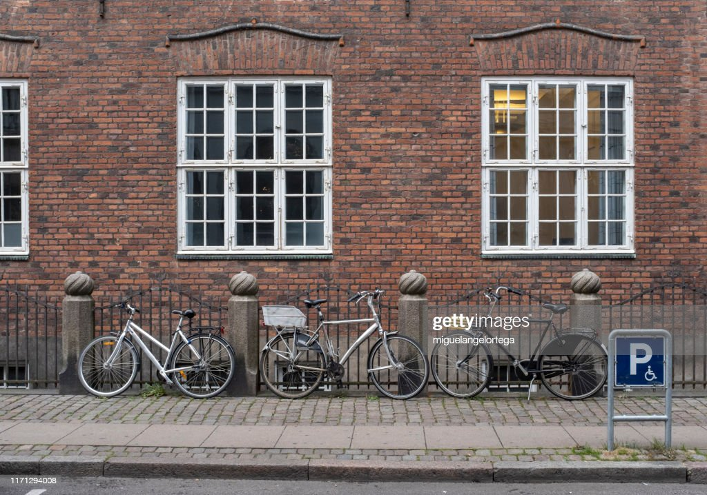 Streets with bicycles : Stock Photo