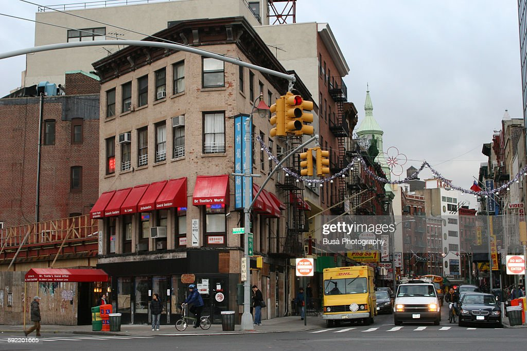 Streetscape In Chinatown New York City High Res Stock Photo Getty Images
