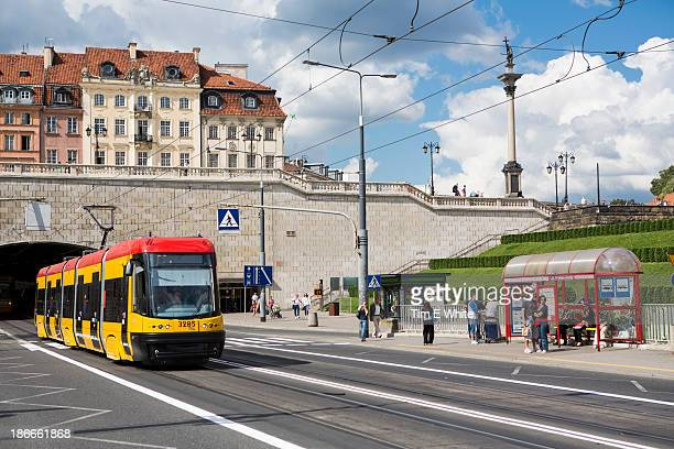 streetscene, warsaw, poland - polish culture stock pictures, royalty-free photos & images