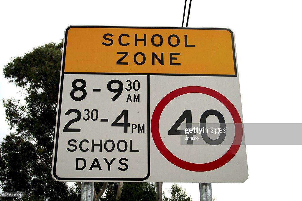 Streetsign: School Zone : Stock Photo