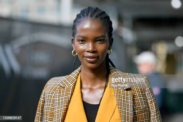Streetstyle outside Spring Studios during New York Fashion Week: The Shows - Day 7 at Spring Studios on February 12, 2020 in New York City.