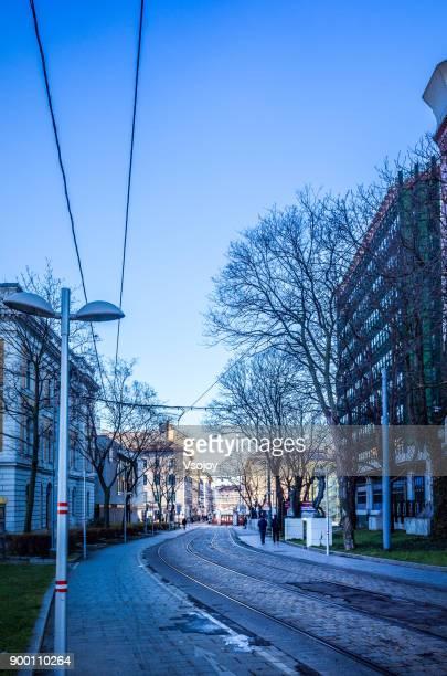 streetview at vienna, austria - vsojoy stockfoto's en -beelden