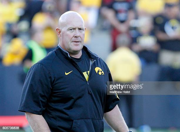 Strength and Conditioning coach Chris Doyle of the Iowa Hawkeyes before the match-up against the Iowa State Cyclones on September 10, 2016 at Kinnick...