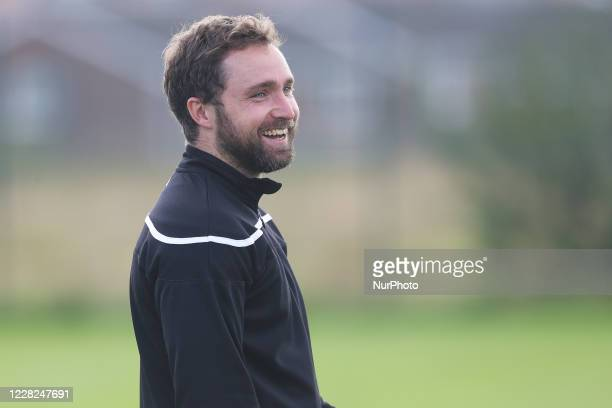 Strength and conditioning coach Jake Simpson during Hartlepool United pre-season training at East Durham College, Peterlee, County Durham, England,...