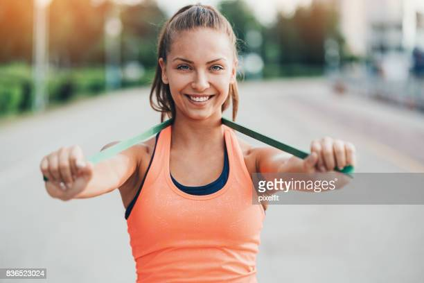 strength and vitality - practicing stock photos and pictures