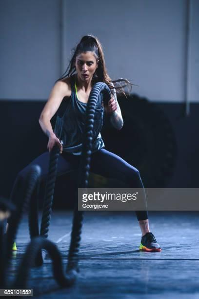 Strengthening her entire body