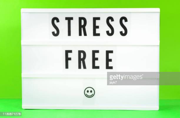 stress free - lightbox stock photos and pictures