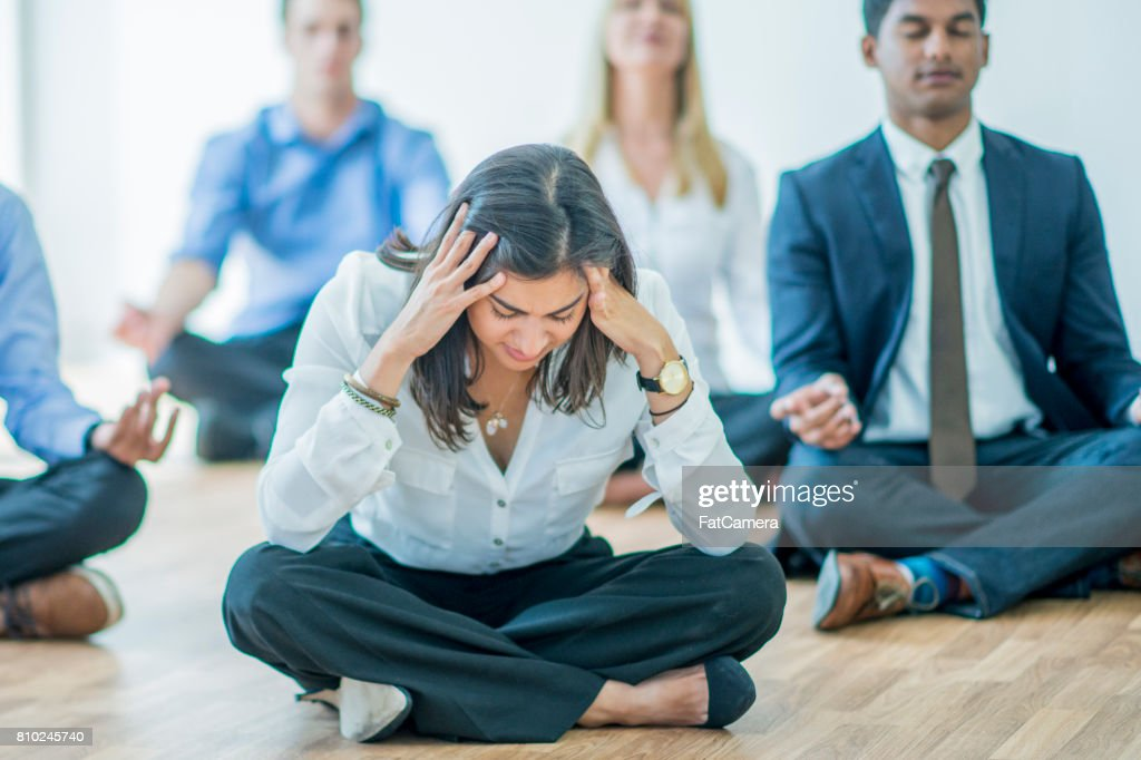 Stressed at Work : Stock Photo