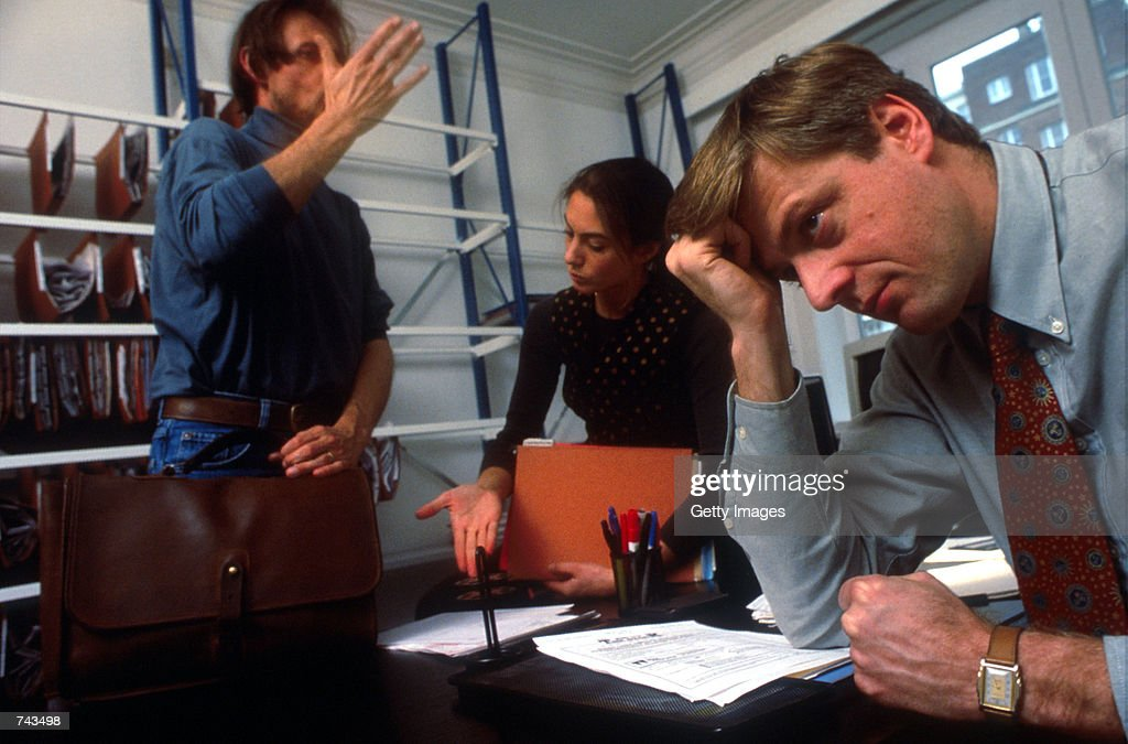 Stressed Out Workers : News Photo