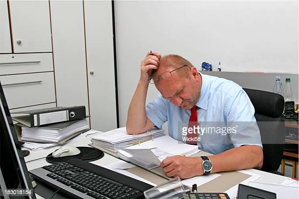 Stressé employé