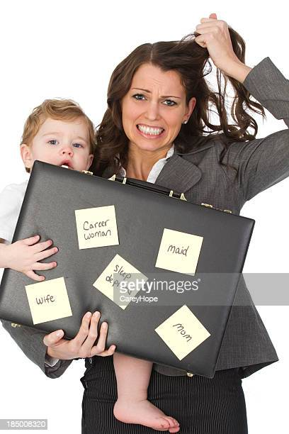 stressed out career mom
