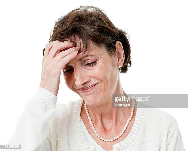 Femme stressée massages front