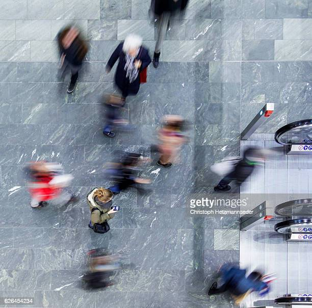 stressful citylife - motion blur stock photos and pictures