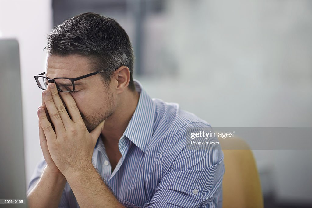 Stressful day at the office : Stock Photo