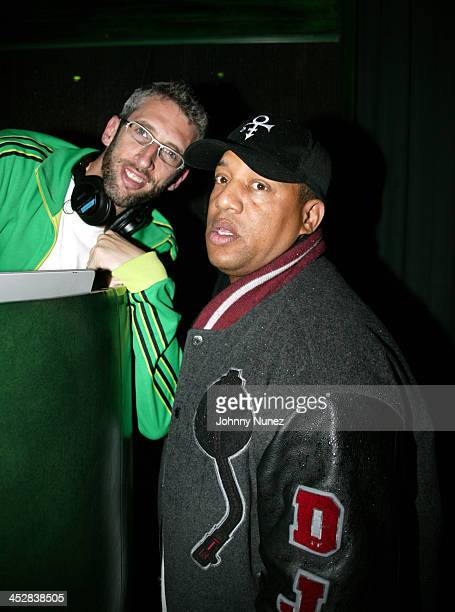 DJ Stretch ArmStrong and DJ LuvBug Starsky during 4th Annual Tribeca Film Festival Just For Kicks After Party at Kos in New York City New York United...
