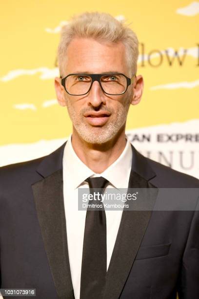 Stretch Armstrong poses on the Yellow carpet at the Yellow Ball, hosted by American Express and Pharrell Williams, at the Brooklyn Museum on...
