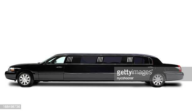 Stretch Limousine isolated on white