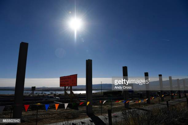 A stretch of C470 under construction November 30 2017 for a widening project includes a 13' concrete noise barrier wall just north of Chatfield...