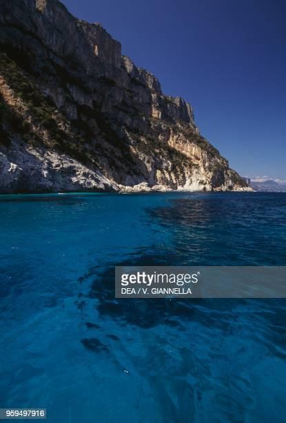 Stretch of coast near Cala Goloritze, National Park of the Bay of Orosei and Gennargentu, Ogliastra, Sardinia, Italy.