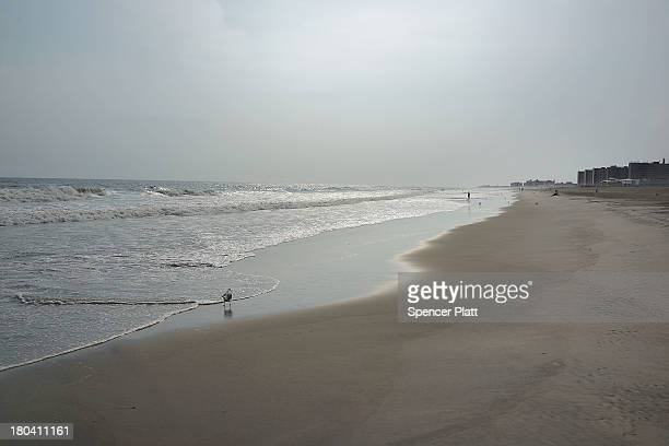 Stretch of Rockaway Beach is viewed on September 12, 2013 in the Queens borough of New York City. Despite the sustained damage in the Rockaways by...