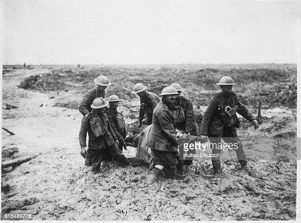 Stretcher Party Carrying Wounded