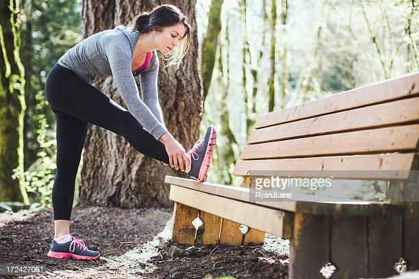 Étirements avant de courir