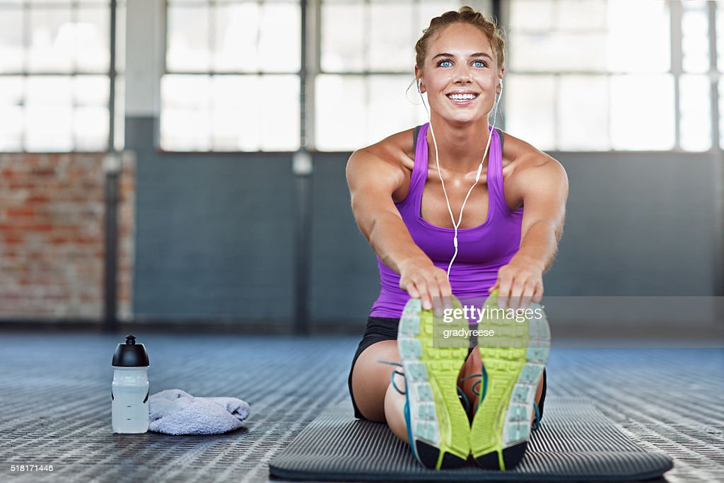 Stretching further every day : Stock Photo