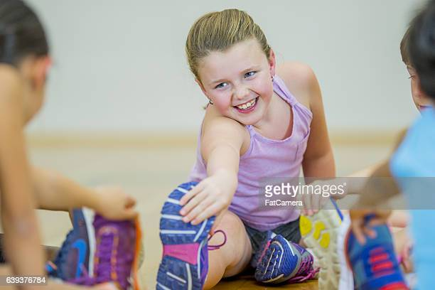 Stretching in Gym Class