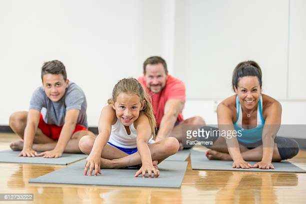 Stretching on an Exercise Mat