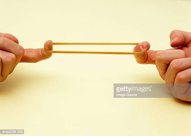 Stretching rubber band