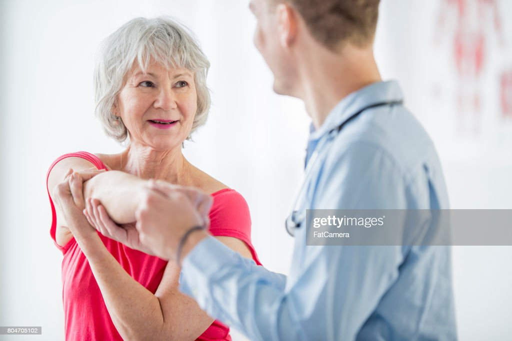 Stretching the Arms : Stock Photo