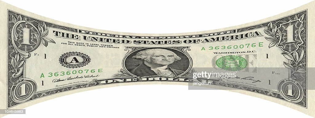 Stretching the dollar : Stock Photo
