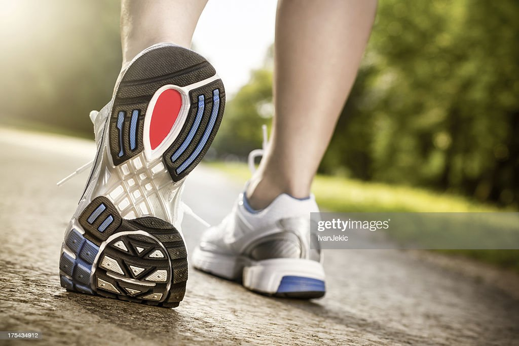 Stretching the feet : Stock Photo