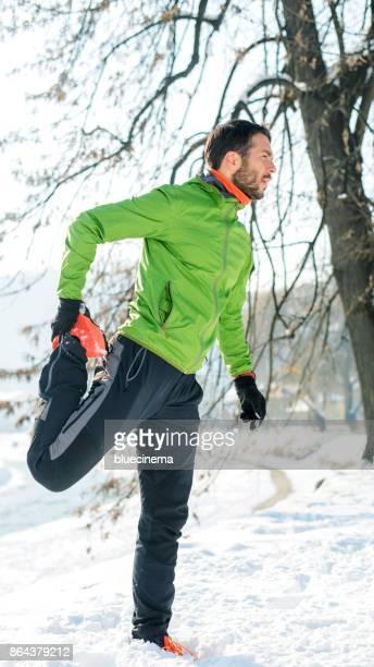 Dehnung der Muskeln müde Beine