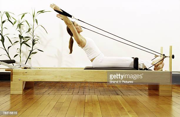 Stretching with Pilates reformer
