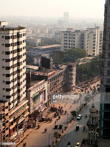 Strets of Dhaka city Bangladesh capital from above