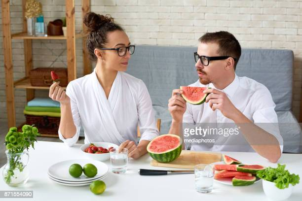 Strict vegetarian couple