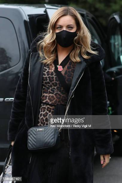 Strictly Come Dancing 2020 dancer Amy Dowden seen arriving at a rehearsal studio on November 11, 2020 in London, England.