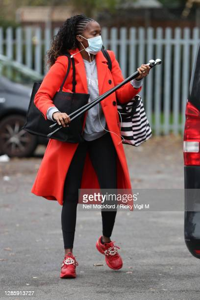 Strictly Come Dancing 2020 dancer Oti Mabuse seen at a rehearsal studio on November 16, 2020 in London, England.