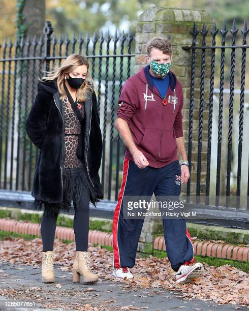 Strictly Come Dancing 2020 duo JJ Chalmers and his dancing partner Amy Dowden seen at a rehearsal studio on November 11, 2020 in London, England.