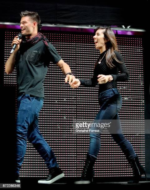 Strictly Come Dancing dancers Aljaz Skorjanec and Janette Manrara at Key 103 Live at Manchester Arena on November 9 2017 in Manchester England