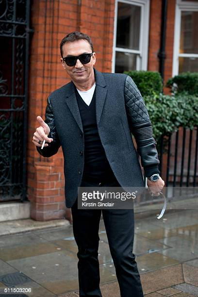 Strictly Come Dancing judge and Choreographer Bruno Tonioli on day 2 during London Fashion Week Autumn/Winter 2016/17 on February 20 2016 in London...
