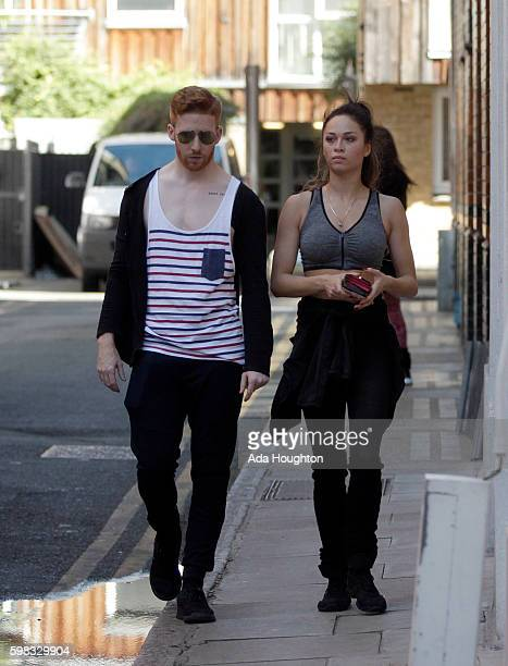 Strictly come dancing professional dancers are seen arriving for rehearsals on August 23 2016 in London England