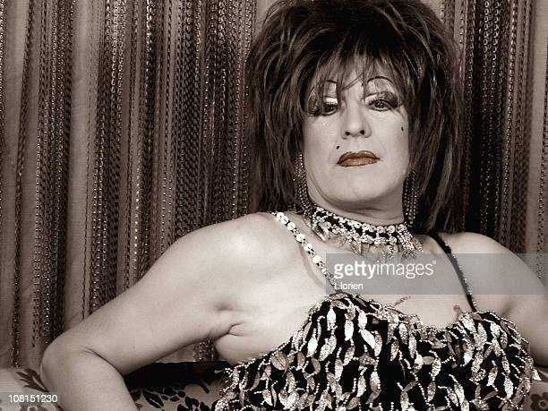 strike a pose - jet.... - transvestite stock photos and pictures