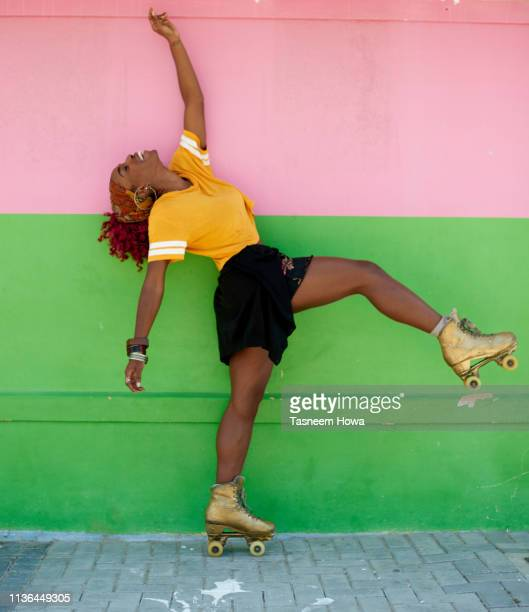 strike a pose - roller skating stock pictures, royalty-free photos & images