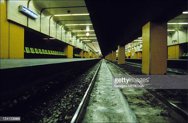 SNCF strike after tribunal's verdict on train crash at Gare de Lyon In Paris France On December 15 1992 Scene of the crash at Gare de Lyon