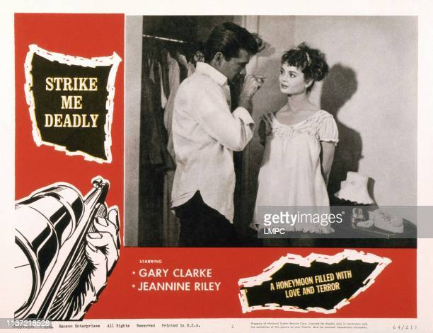 Strike Me Deadly US lobbycard from left Gary Clarke Jeannine Riley 1963