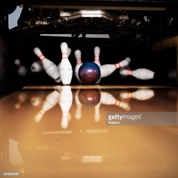 strike - bowling stock pictures, royalty-free photos & images