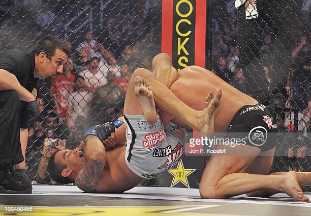 Strikeforce fighter Fabricio Werdum battles Strikeforce fighter Fedor Emelianenko during their Heavyweight fight at Strikeforce Emelianenko vs Werdum...