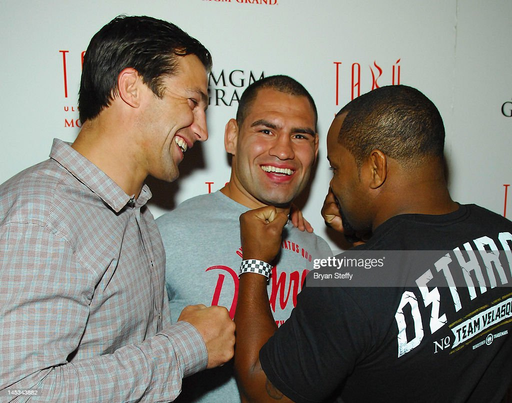 UFC Fighter Cain Velasquez Hosts Post-Fight Celebration At Tabu At MGM Grand Hotel & Casino : News Photo